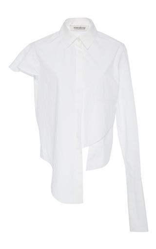 Medium kimhekim white asymmetric single sleeve shirt