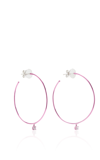 Medium as29 pink mykonos big hoop earrings in sharp pink