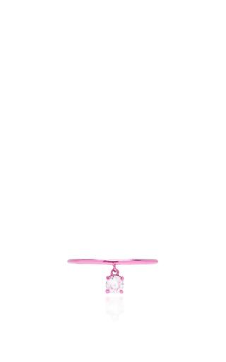 Medium as29 pink mykonos tube pinky ring in sharp pink