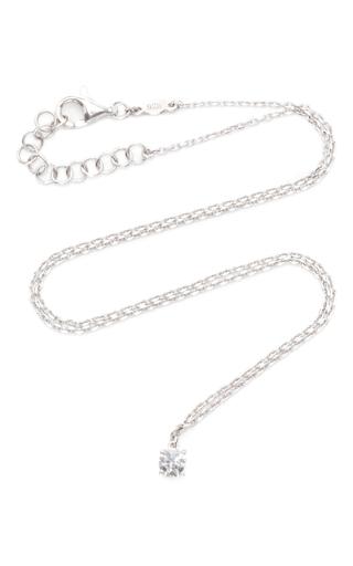Medium as29 silver mykonos diamond chain choker in white gold
