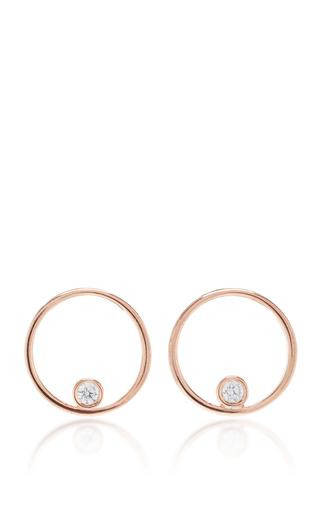 Medium as29 pink mykonos round tube earrings in rose