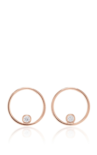 Medium as29 pink mykonos round tube earrings in rose