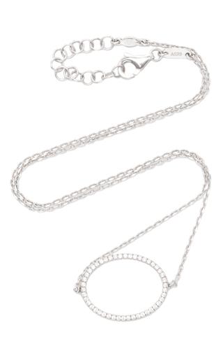 Medium as29 silver la collection oval diamond single chain choker in white gold
