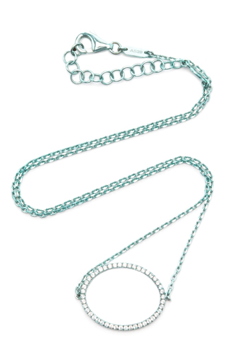 Medium as29 blue la collection oval diamond single chain choker in turquoise
