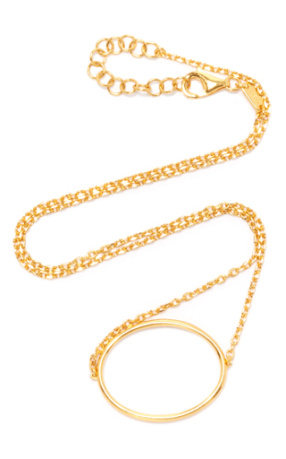 Medium as29 gold la collection oval single chain choker in gold