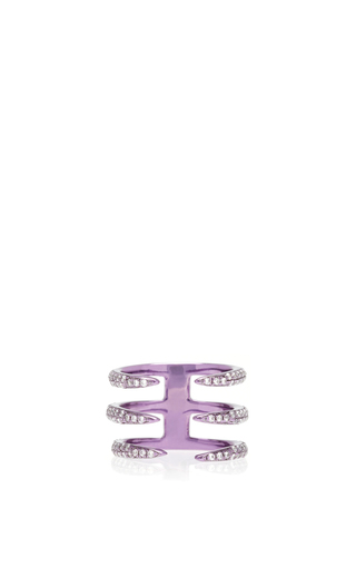 Medium as29 purple tina 3 branches pinky ring in purple