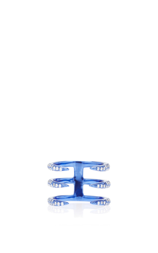 Medium as29 blue tina 3 branches pinky ring in blue