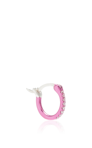 Medium as29 pink la collection hoop earring in sharp pink