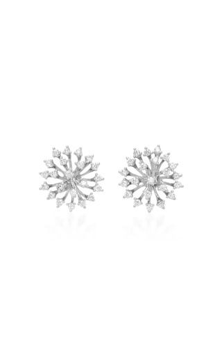 Medium hueb silver hueb 18k white gold luminus earrings
