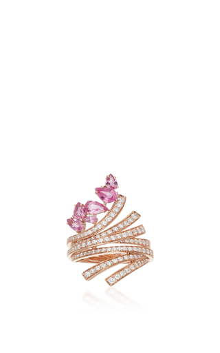 Medium hueb gold hueb 18k rose gold mirage ring