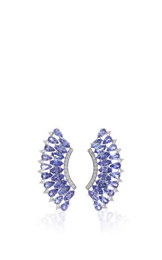 Medium hueb silver mirage earrings