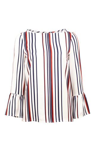 Medium baum und pferdgarten stripe manavi striped ruffle blouse