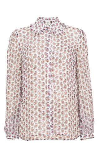 Medium baum und pferdgarten print mayoko collared shirt