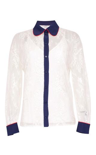 Medium baum und pferdgarten white maeva lace collared shirt