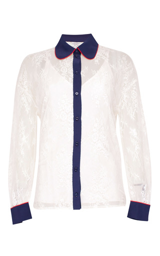 Medium baum und pferdgarten white maeva lace collared shirt