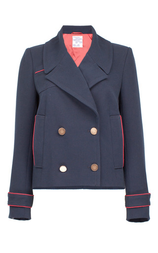 Medium baum und pferdgarten navy birkita double breasted short coat