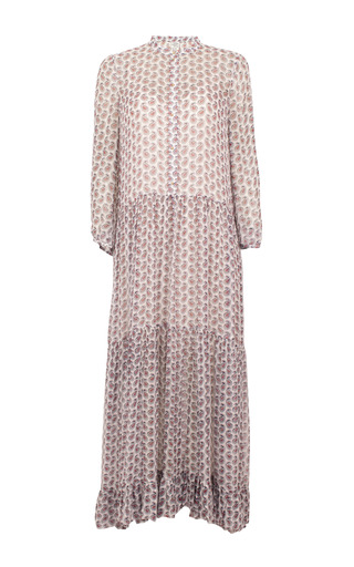 Medium baum und pferdgarten print alexandrina maxi shirt dress