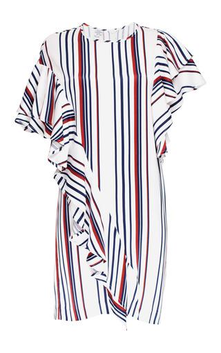 Medium baum und pferdgarten stripe alisha asymmetric ruffle dress