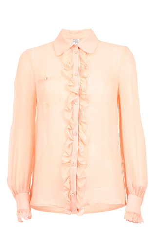 Medium baum und pferdgarten pink melda ruffled shirt