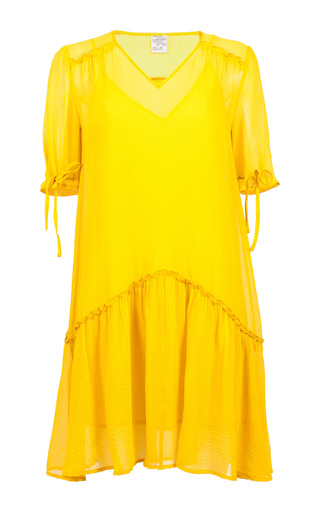 Medium baum und pferdgarten yellow aili drop waist mini dress