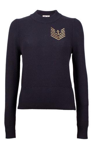 Medium baum und pferdgarten navy caitrin nautical knit sweater