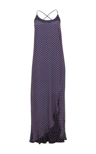 Medium baum und pferdgarten print agnita asymmetric ruffle maxi dress