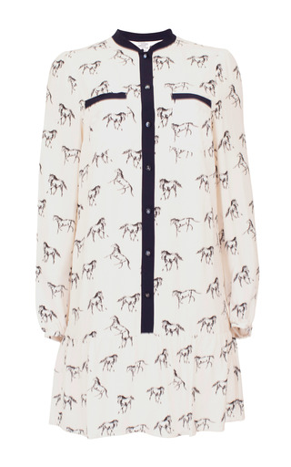 Medium baum und pferdgarten print adine mini shirt dress