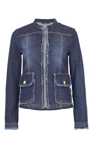 Medium baum und pferdgarten blue blanche collarless denim jacket
