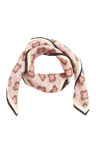 Medium baum und pferdgarten pink lexine silk scarf