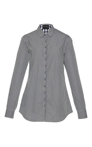 Medium rahul mishra black gingham cotton shirt