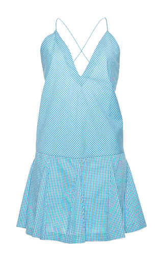 Medium rahul mishra blue gingham short dress