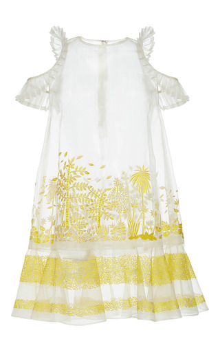 Medium rahul mishra white hand embroidered forest top