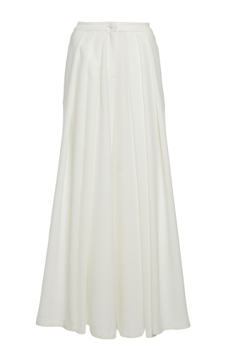 Medium rahul mishra white stretch palazzo pants