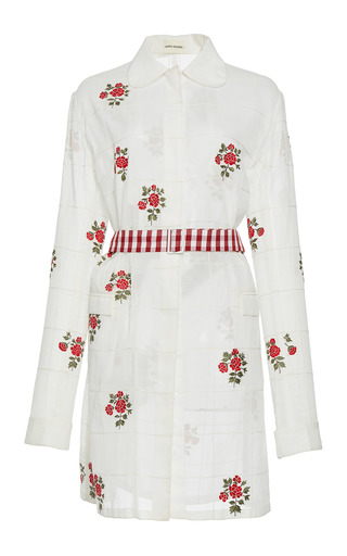 Medium rahul mishra white hand embroidered long shirt 3