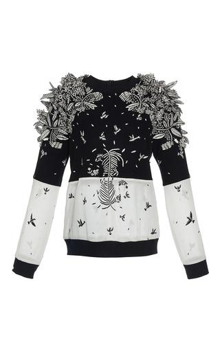 Medium rahul mishra black white zebra 3d jumper
