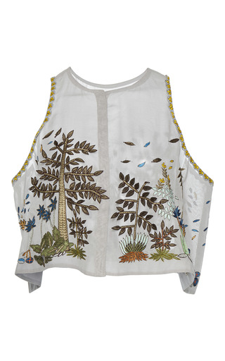 Medium rahul mishra multi hand embroidered tropical forest top