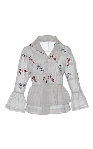 Medium rahul mishra white hand embroidered bird kimono jacket