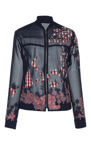 Medium rahul mishra black hand embroidered bursting tree jacket
