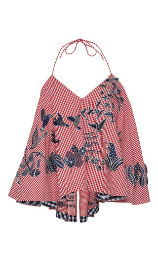 Medium rahul mishra red tropical forest top