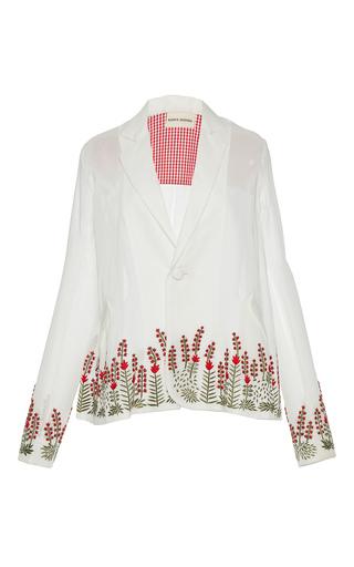Medium rahul mishra white barley cotton voile blazer
