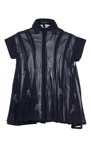 Medium rahul mishra black hand embroidered bird shirt 2