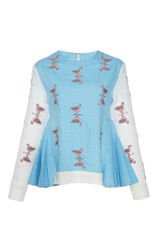 Medium rahul mishra blue crane gingham jumper