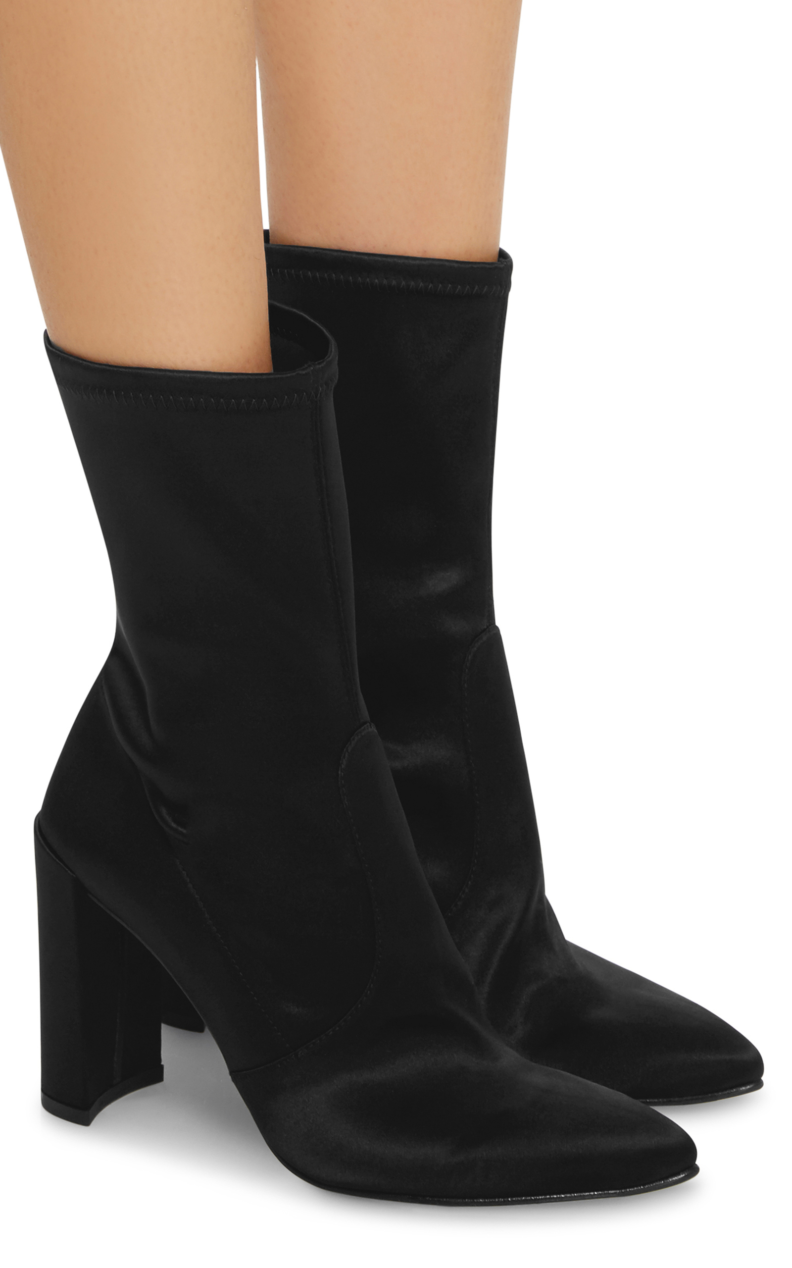 Stuart Weitzman Satin Ankle Boots discount clearance store explore for sale d5GZm