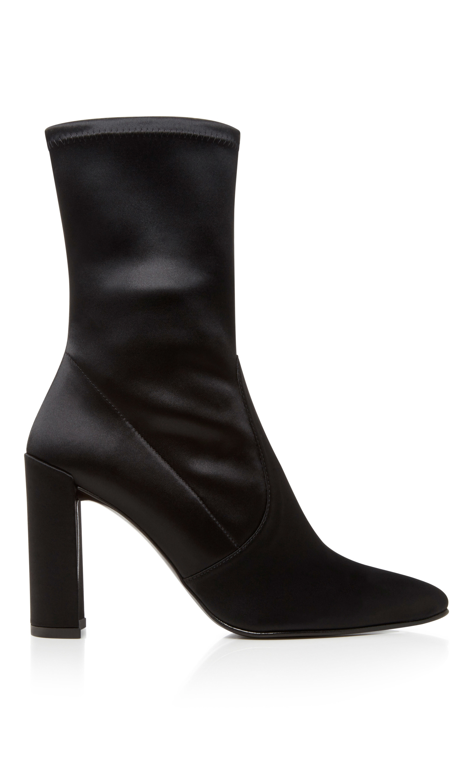 quality from china wholesale Stuart Weitzman Clinger Stretch Satin Pointed Toe Boots cheap big discount Otc8tl