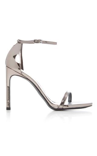 Medium stuart weitzman  2 metallic nudist metallic leather sandals