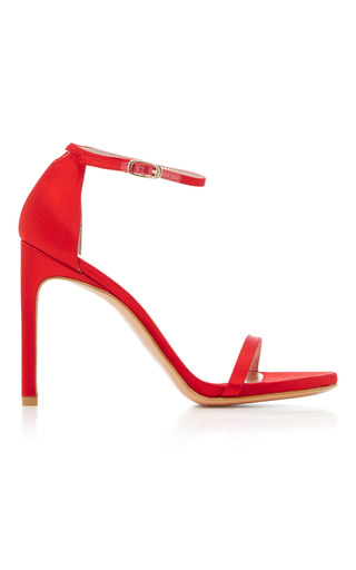 Medium stuart weitzman  2 red nudist satin sandals