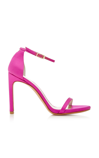 Medium stuart weitzman  2 pink nudist song satin sandals