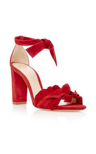Medium alexandre birman red lupita suede sandals