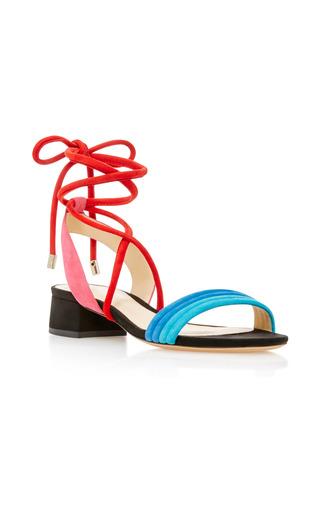 Medium alexandre birman multi aurora lace up suede sandals