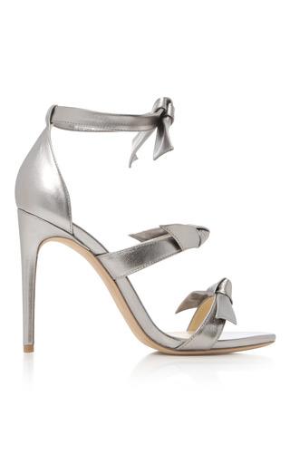 Medium alexandre birman silver gianna metallic leather sandals